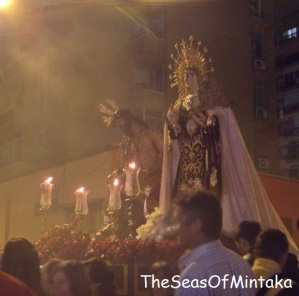 Float at Night Holy Week Procession