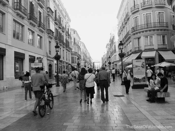 Malaga in Black and White
