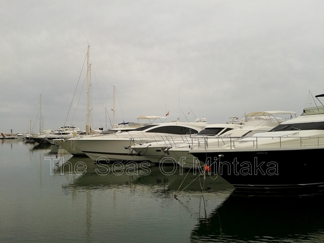 Parked Yachts Puerto Banus