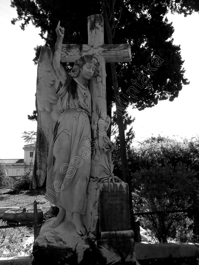 Angel Tombstone English Cemetery Malaga