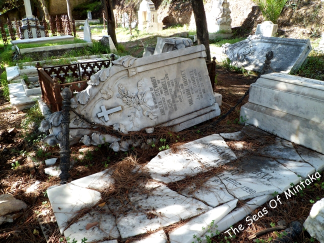Broken Tombstones English Cemetery Malaga