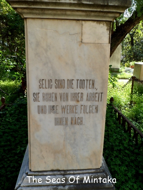 German Plaque English Cemetery Malaga