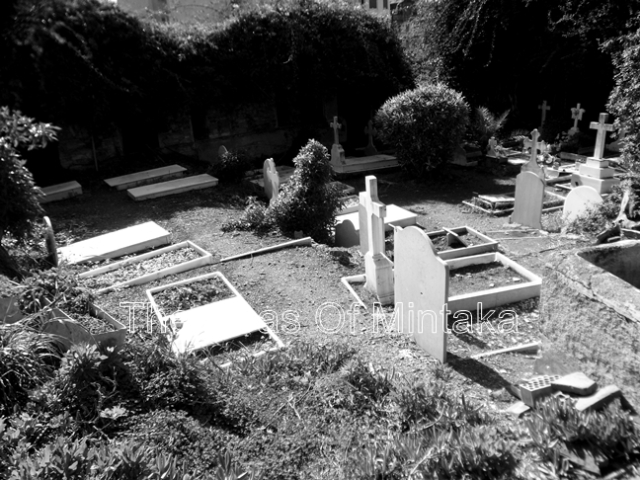 Tombstones in the English Cemetery Malaga