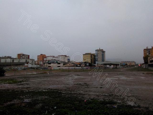 Malaga Neighbourhood in the Rain
