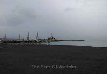 Beach and Port in Rain Malaga